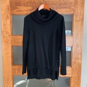 Limited side button cowl neck sweater M